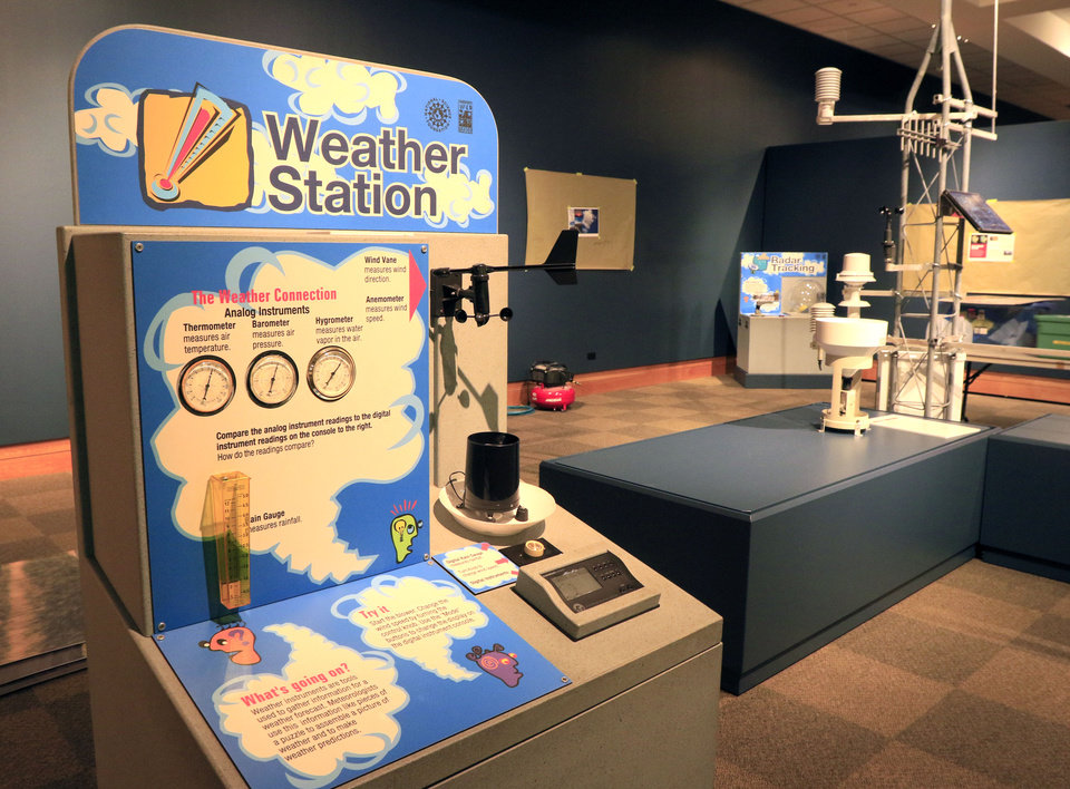 Photo -  An interactive weather station is part of the exhibit