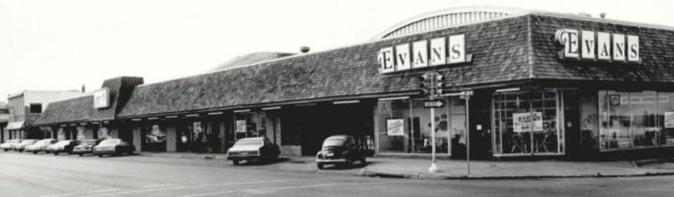 Photo -  Evans Furniture Store was at NW 23 and Walker. [OPUBCO Collection, 1981/Oklahoma Historical Society]