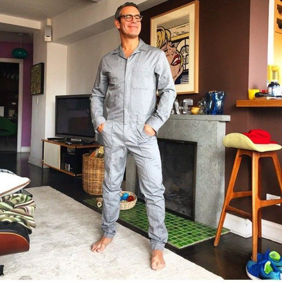 Photo - TV personality Andy Cohen rocks a jumpsuit. (Instagram)