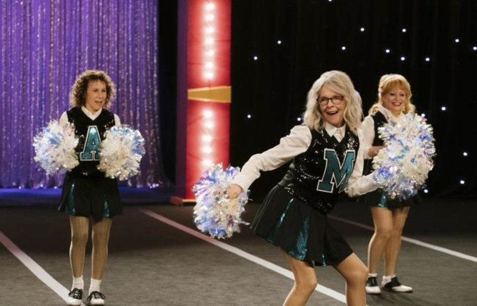Photo -  This image released by STXfilms shows Rhea Perlman, from left, Diane Keaton and Jacki Weaver in a scene from
