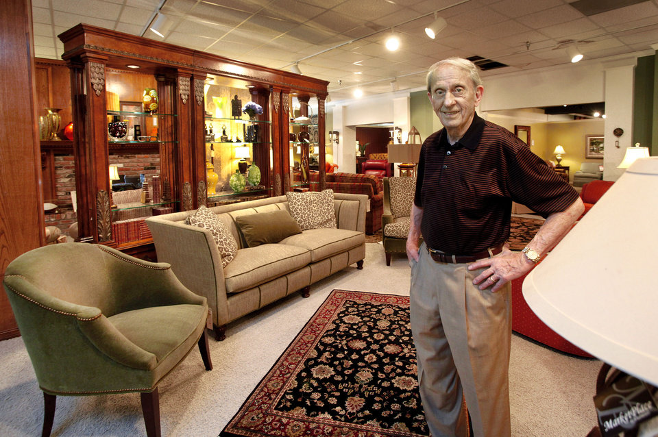 Jack Brown Stands In One Of The Showrooms His Business Furniture Co 1601 N Kickapoo St Shawnee Was Started By Father 1946