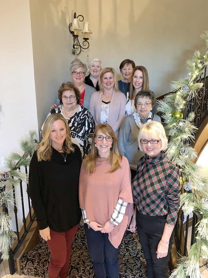 Photo - Lori Dobson, Erin Kennedy, Terry Johnston, first row; Angela Flynn, Penny Cupp, second row; Shannon Custard, Kelly Kempton, Chrissy Hart, third row, and Becky Benton and Robin Benoit, back row. PHOTO PROVIDED