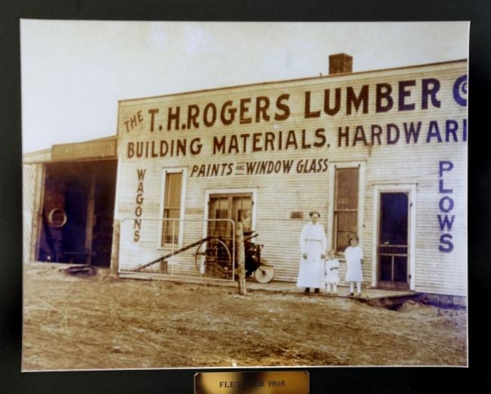 Photo -  This photograph shows the T.H. Rogers storefront in Fletcher in 1905. [JIM BECKEL/THE OKLAHOMAN]