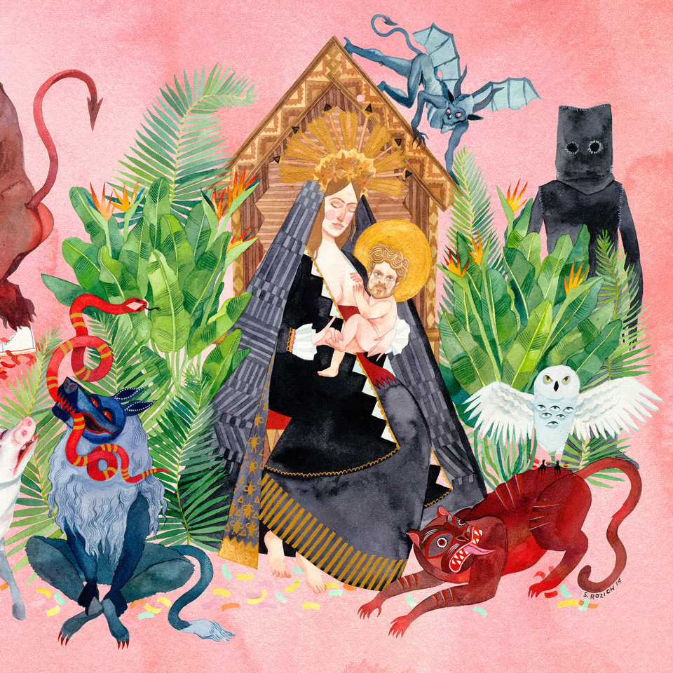 "Photo - Pictured is the cover art for Father John Misty's second record ""I Love You, Honeybear."""