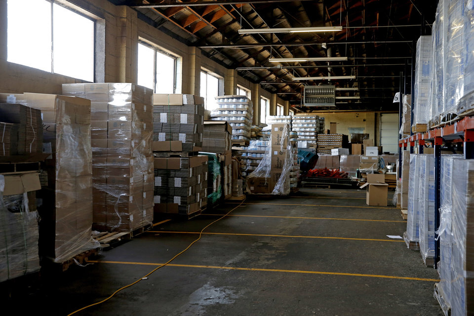 Photo -  Products ready for shipment at HurryHub, a new tenant at 16 S Pennsylvania Ave., warehouse space repurposed by Adept Commercial Real Estate. [BRYAN TERRY/THE OKLAHOMAN]
