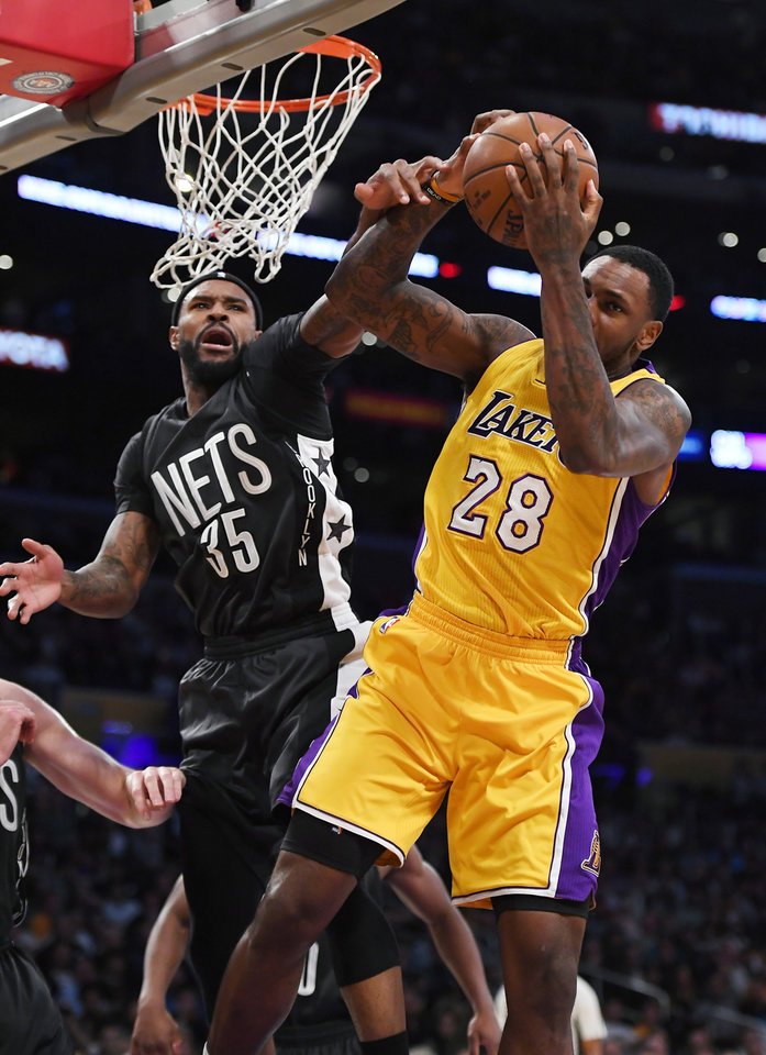 Nba Player Trevor Booker >> Russell, Randle push surging Lakers past Nets, 125-118 | News OK
