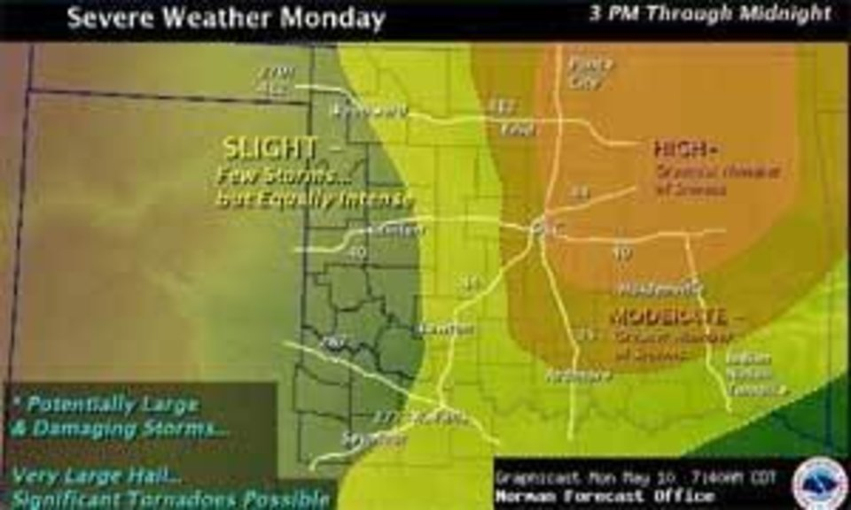 Photo - Graphic provided by the National Weather Service in Norman