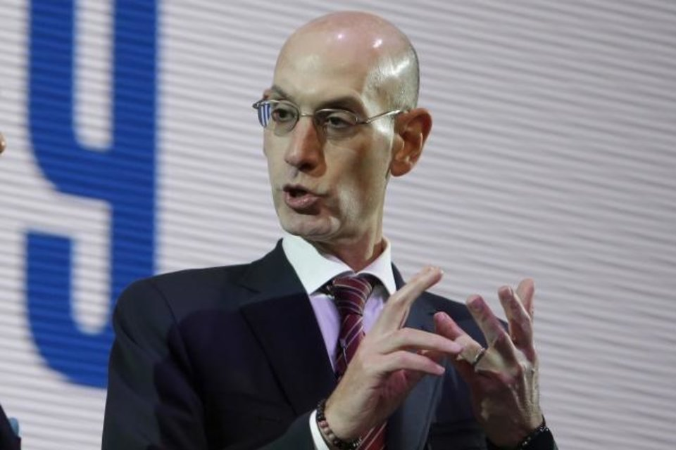 Photo -  NBA commissioner Adam Silver has been open-minded about the league's schedule during his five years in charge. [AP Photo/Kiichiro Sato]