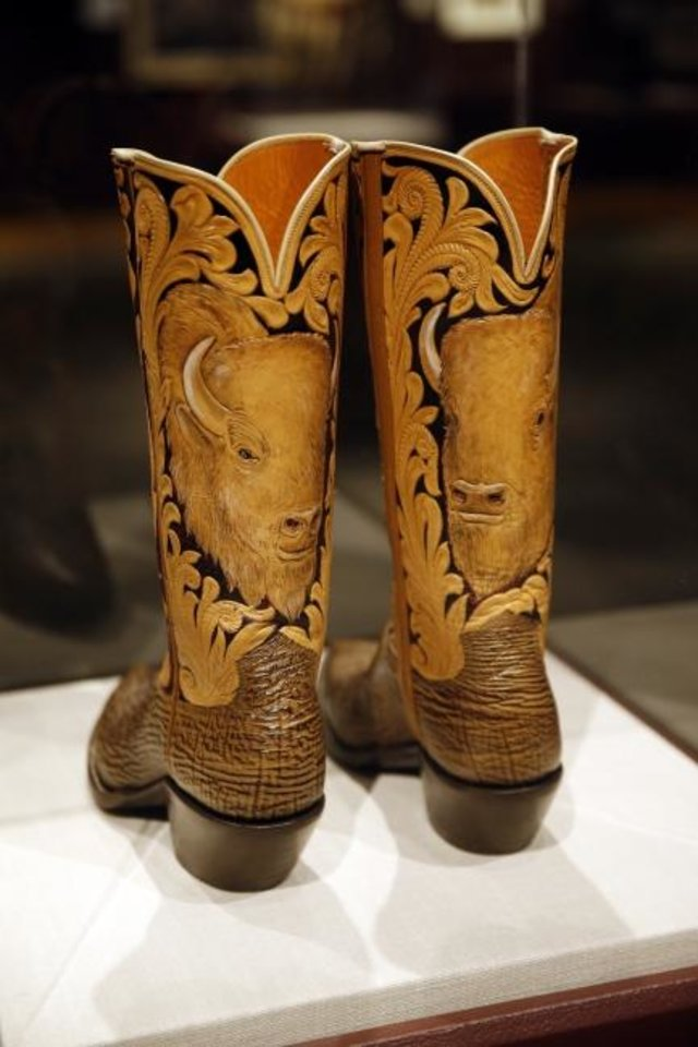 Photo -  Cowboy boots by Paul Bond and Bob Brown, circa 2002, are featured in