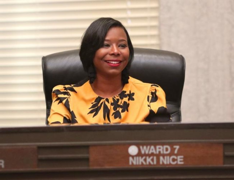 Photo -  Nikki Nice was elected in 2018 to represent Ward 7 on the Oklahoma City Council. [Doug Hoke/The Oklahoman]