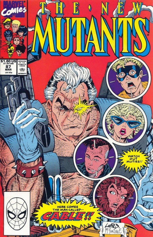 Photo -  Cable's first full comic book appearance was in
