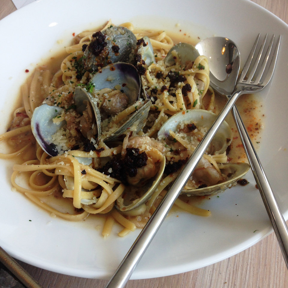 Photo - The Linguini and Clams with Chorizo from The Drake.