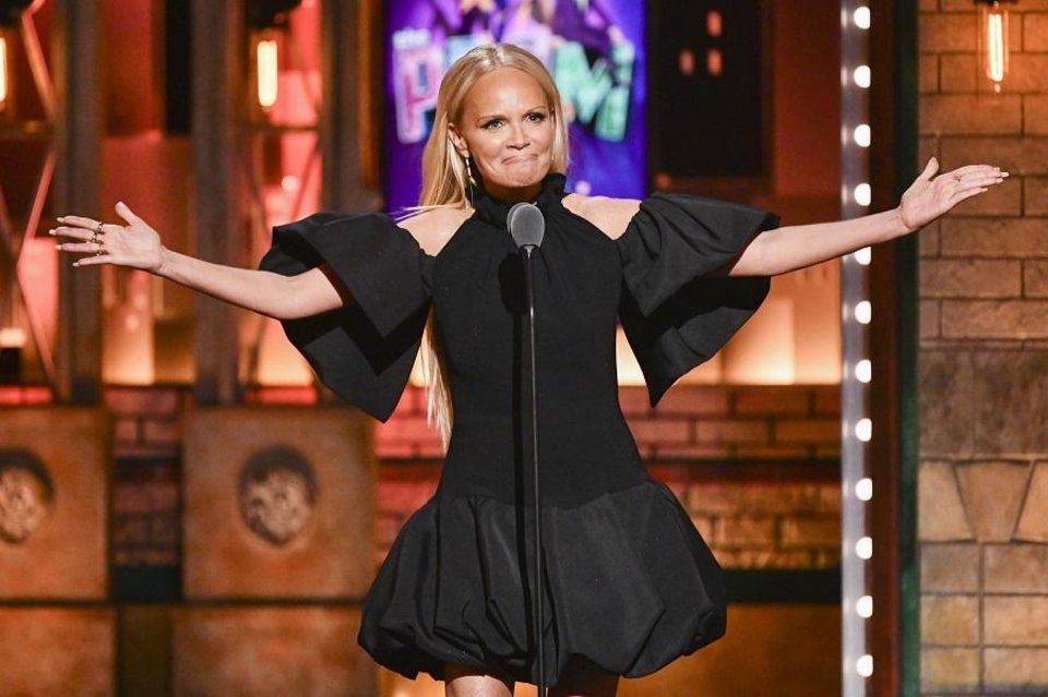 Photo - Kristin Chenoweth speaks at the 73rd annual Tony Awards at Radio City Music Hall on Sunday, June 9, 2019, in New York. [Photo by Charles Sykes/Invision/AP]
