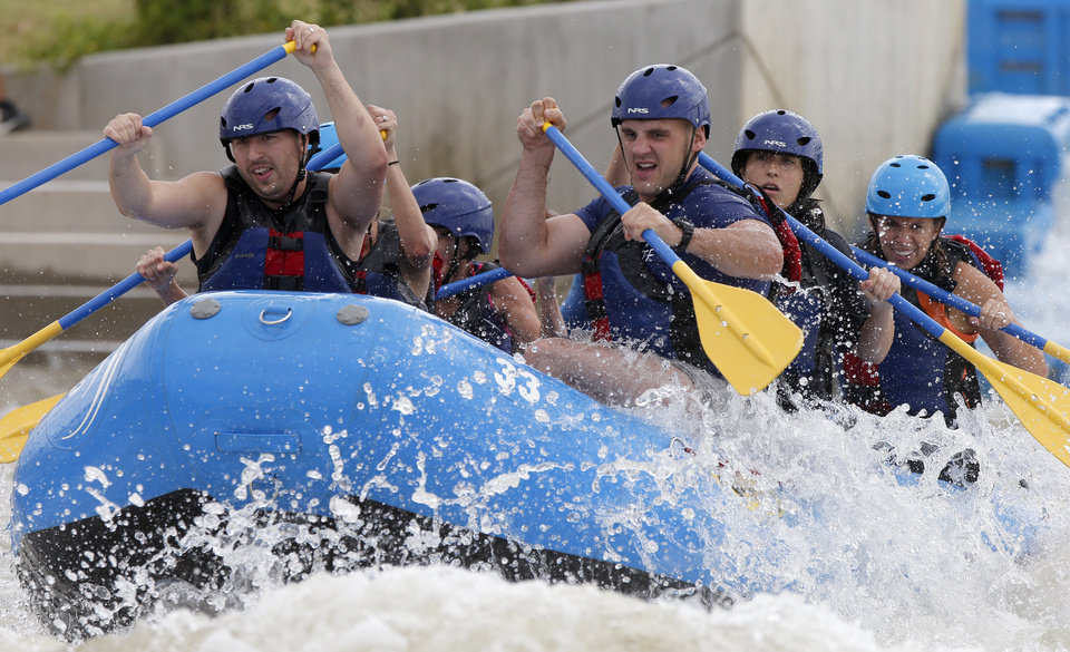 Photo -  Rafters compete in the Riversport Whitewater Rafting League Championship in June. [Photo by Bryan Terry, The Oklahoman Archives]