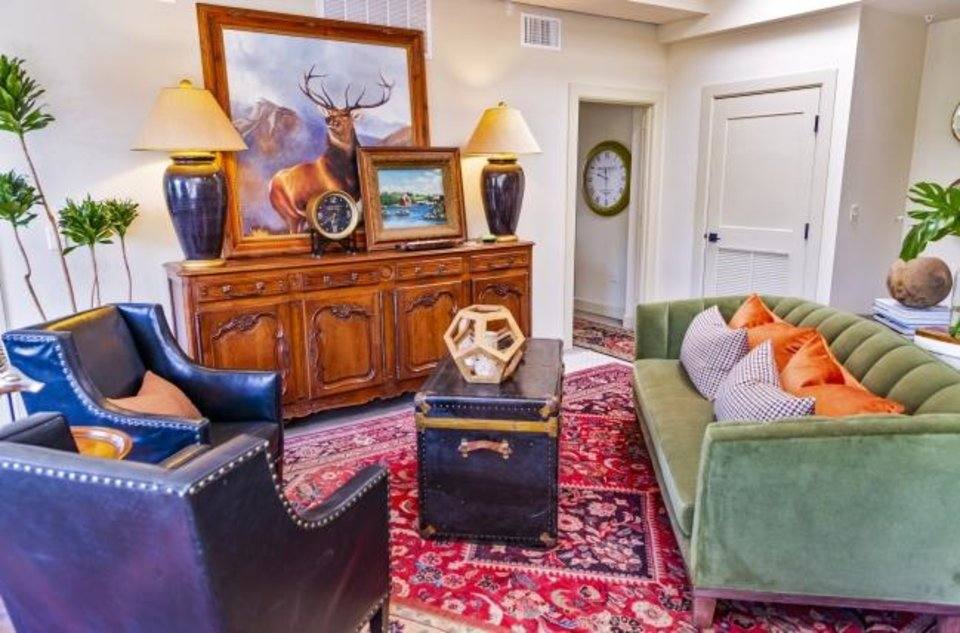 Photo -  Noel Ladd and Ken Rushing, with K&N Designs, decorated this apartment in the Symphony Show House. [CHRIS LANDSBERGER/THE OKLAHOMAN]