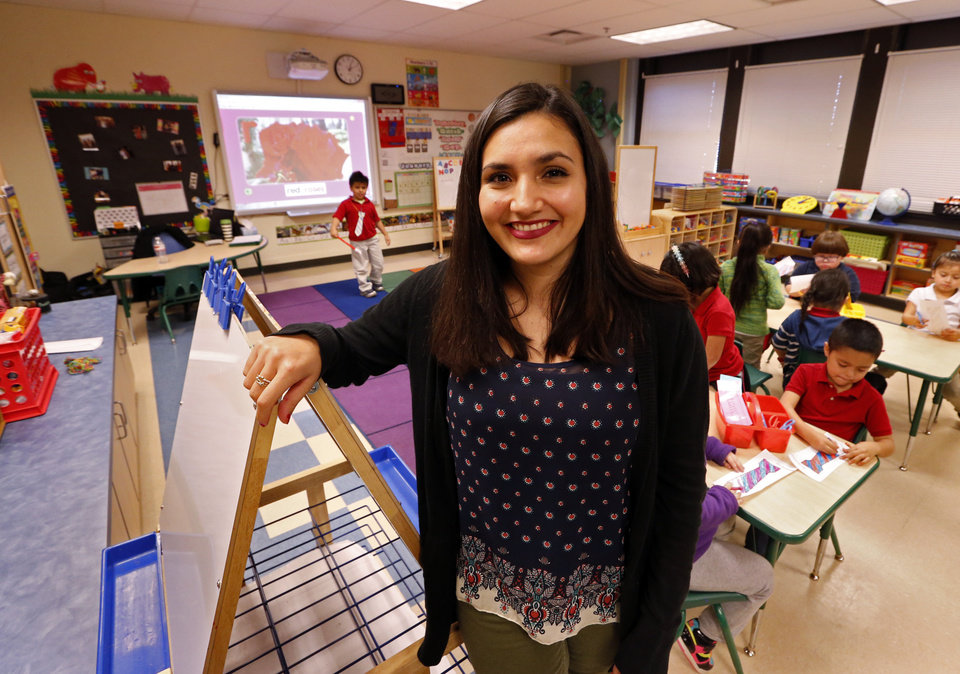 Photo -  Alexiss Lopez is part of the Bilingual Teacher Pipeline Project at Hawthorne Elementary School on Wednesday, Jan. 13, 2016 in Oklahoma City, Okla. Photo by Steve Sisney, The Oklahoman