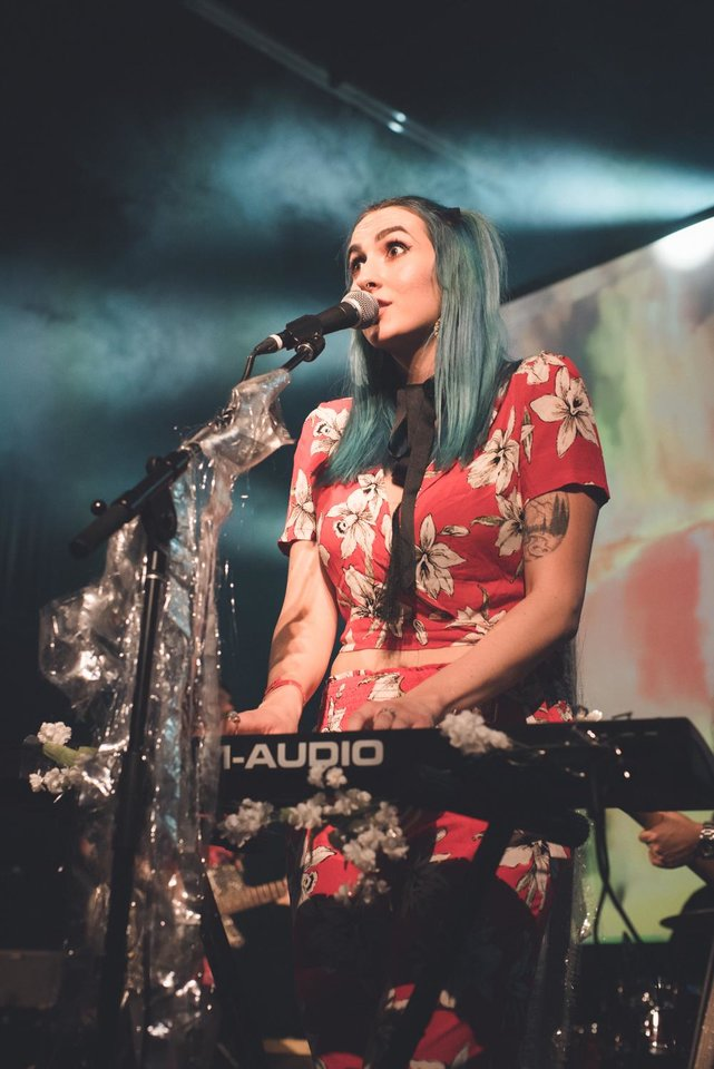Photo - Sophia Massad performing live in 2018. [Photo provided by Austin Edwards]