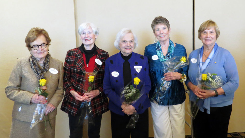 Photo - Barbara Kerrick, Kay Bass, Marilyn Boettger, Sarah Welte, Susan Irvin. PHOTO PROVIDED