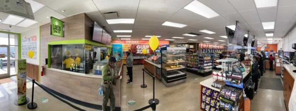 Photo -  A recently-opened 7-Eleven at 801 S MacArthur offers a glimpse at chanages coming to at least 30 metro 7-Eleven stores following their sale from the Brown family to the corporate 7-Eleven chain. The changes include new store layouts, the addition of lottery kiosks and Laredo's Taco Company restaurants. [DOUG HOKE/THE OKLAHOMAN]