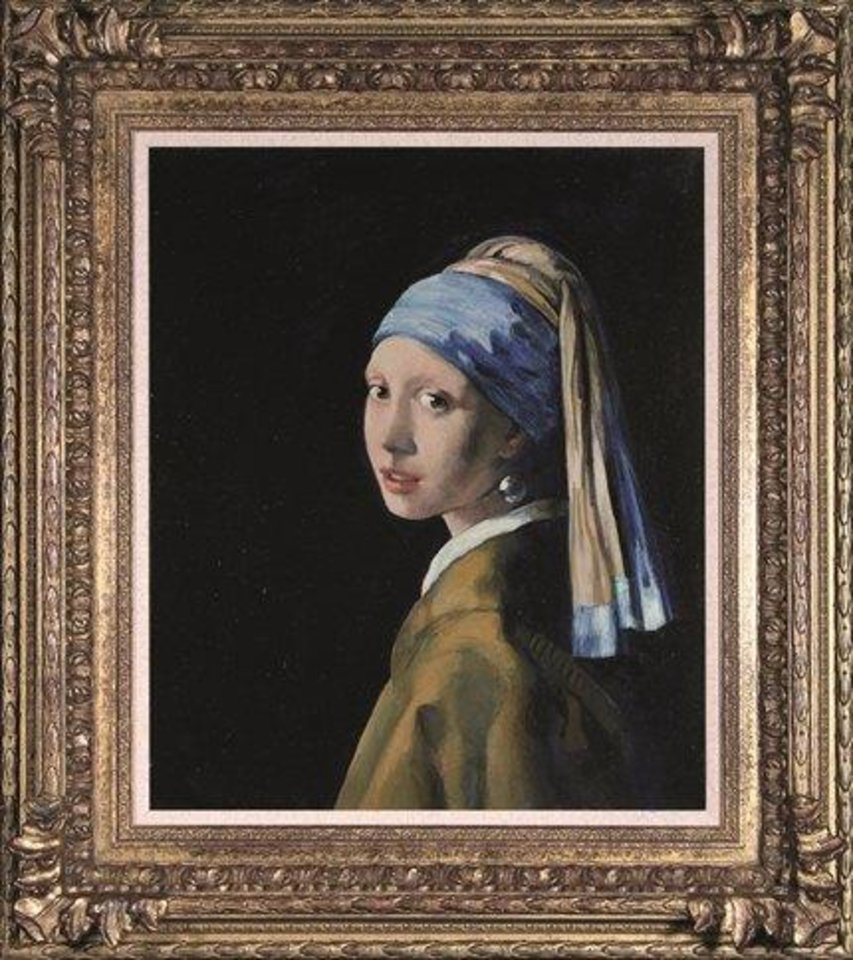 "British Forger John Myatt (born 1945) Painted ""girl With A Pearl Earring"""
