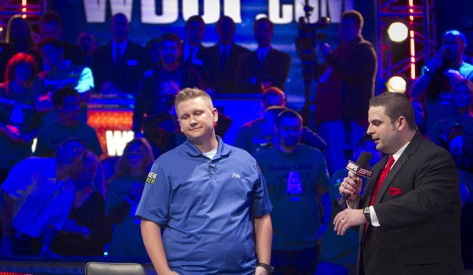 Photo - Ben Lamb, left, at the World Series of Poker.  Courtesy WSOP.  Jonathan_Boncek
