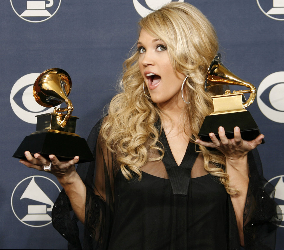 CArrie Underwood After receiving Grammy