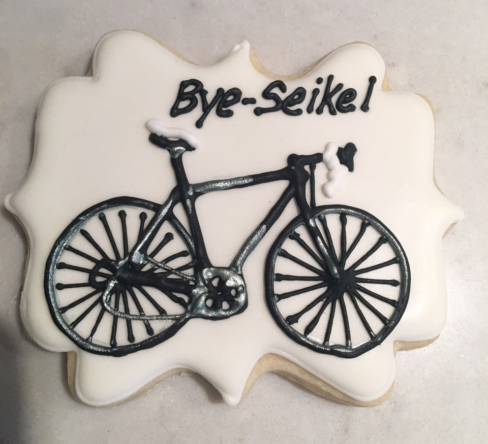 "Photo - ""Bye Seikel"" cookie. PHOTO PROVIDED"