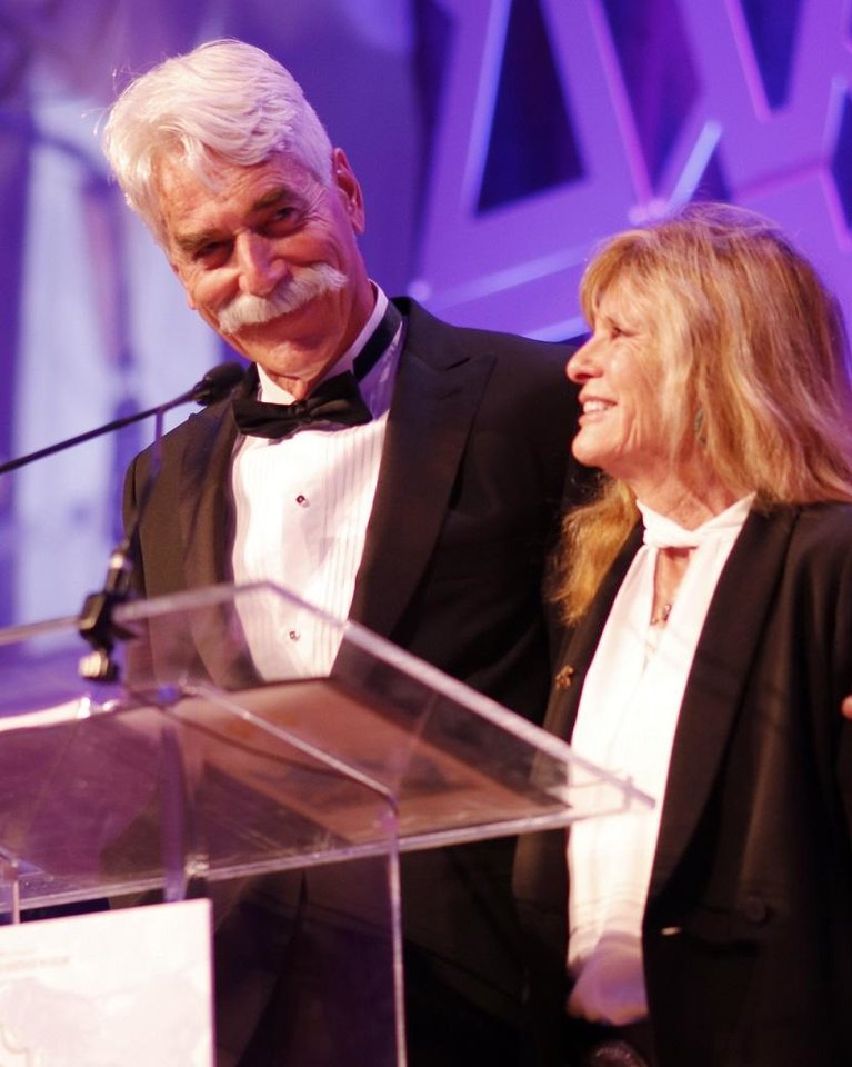 Photo - Masters of ceremonies Sam Elliott and Katharine Ross appear during the National Cowboy & Western Heritage Museum's Western Heritage Awards in Oklahoma City. [Photo by Doug Hoke, The Oklahoman]