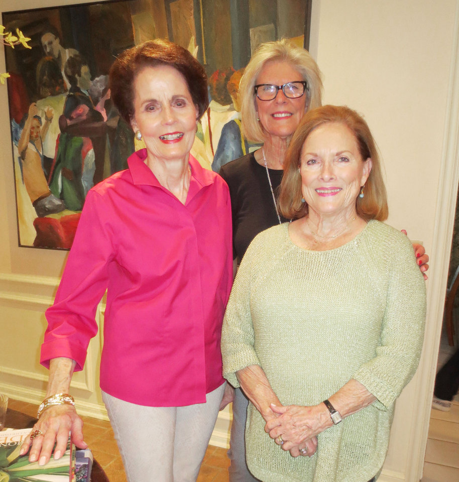 Photo - Carol Hall, SoRelle Fitzgerald, Patty Harper. PHOTO BY HELEN FORD WALLACE