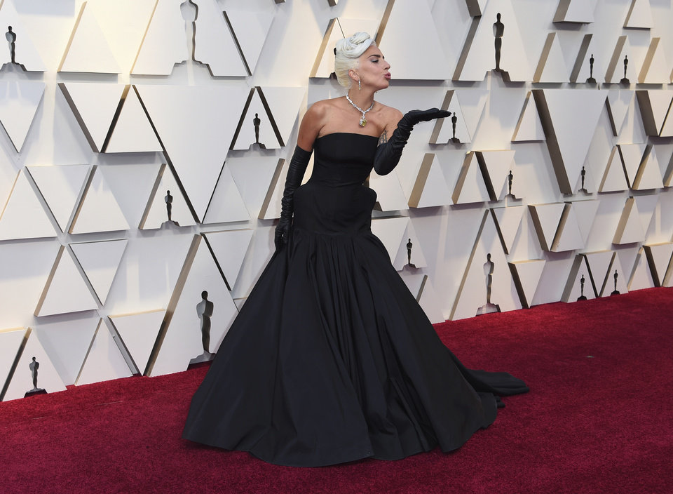 Photo -  Lady Gaga arrives at the Oscars on Sunday, Feb. 24, 2019, at the Dolby Theatre in Los Angeles. (Photo by Richard Shotwell/Invision/AP)