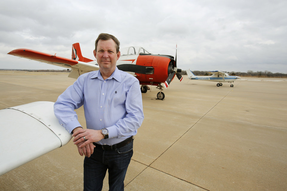 Elegant Jerry Hunter CEO of U S Fleet Tracking recently purchased Sundance Airport in nortfhwest Oklahoma City and has plans to remodel it Photo by Steve Gooch