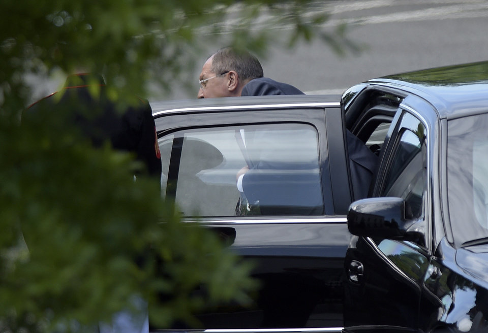 Photo - Russian Foreign Minister Sergey Lavrov arrives at the White House in Washington, Wednesday, May 10, 2017, for a meeting with President Donald Trump. (AP Photo/Susan Walsh)