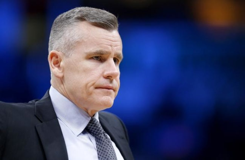 Photo -  Billy Donovan replaces Jim Boylen, who was fired after the Bulls finished 22-43 and were one of the eight teams that didn't qualify for the NBA's restart at Walt Disney World. [Sarah Phipps/The Oklahoman]