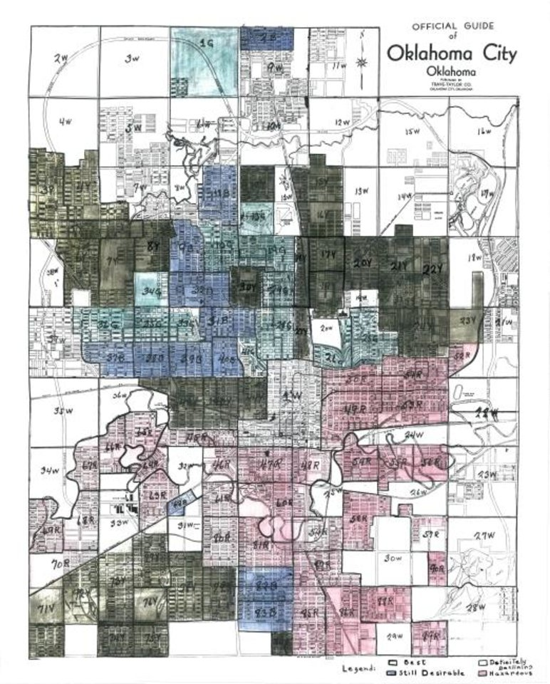 Photo -  So-called security maps of the New Deal era are early examples of racial profiling. [The Mapping Inequality Project]