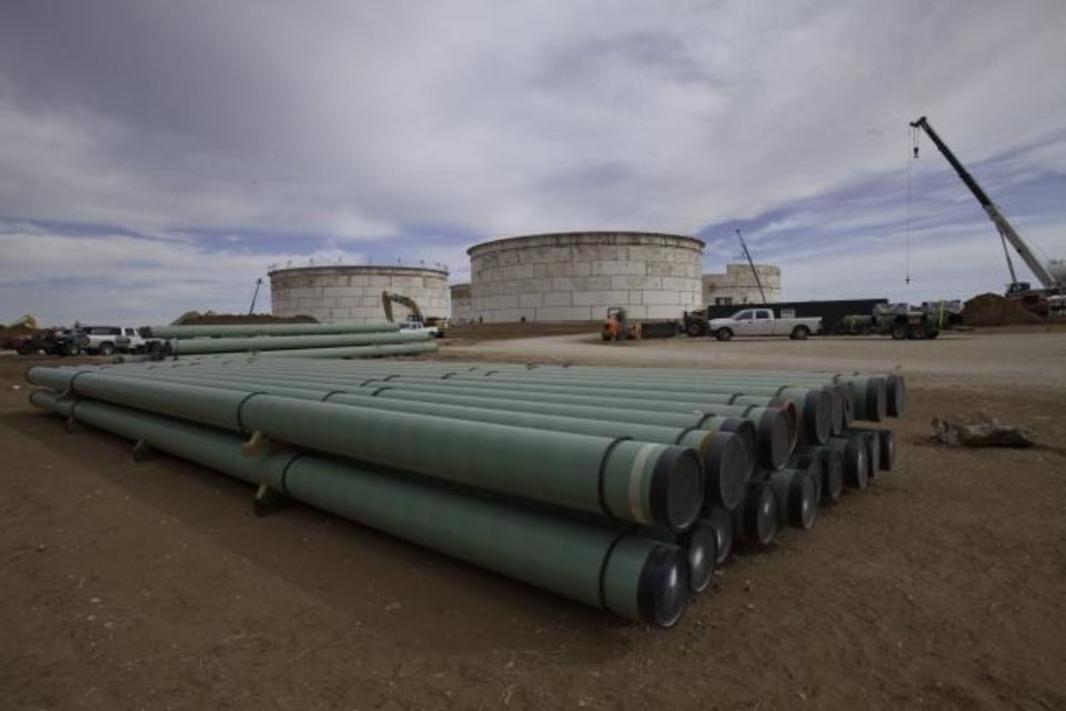 Photo -  Magellen Midstream Partners L.P BridgeTex Pipeline construction site near Colorado City, Texas. [PROVIDED]