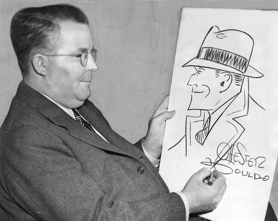 Photo -  This photo of Dick Tracy comic creator Chester Gould was taken in April 1941. Gould, a native of Pawnee, got his start as a professional cartoonist by working as a sports cartoonist for The Daily Oklahoman from 1919-1921 while a student at Oklahoma A&M College in Stillwater. The