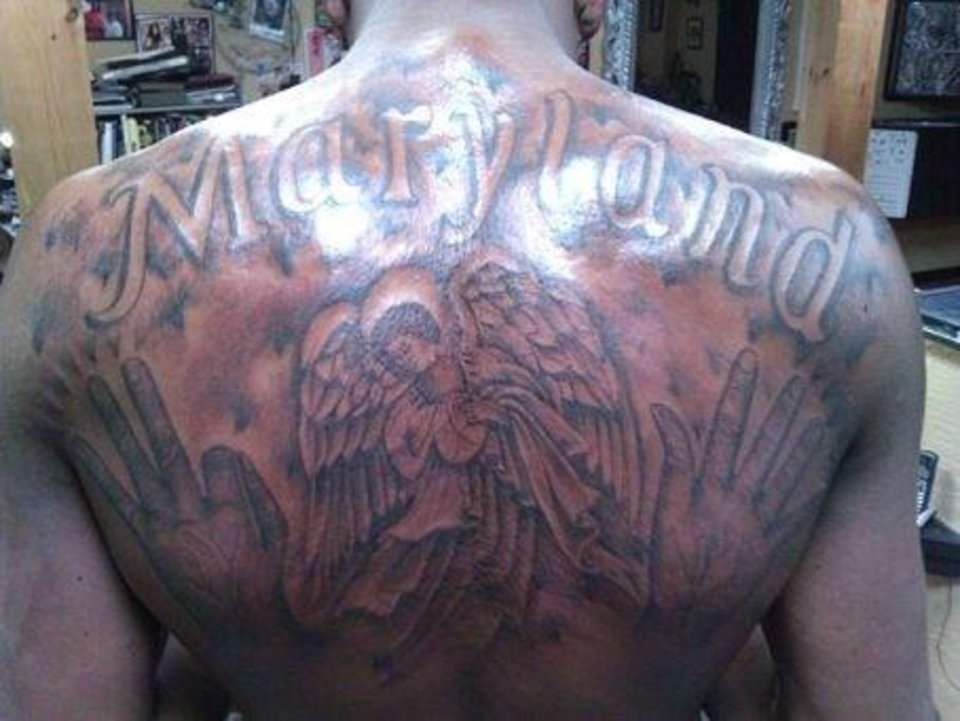 Photo -  Kevin Durant celebrates his home state across his back. It's the kind of thing that makes me reconsider my anti-tattoo bias.