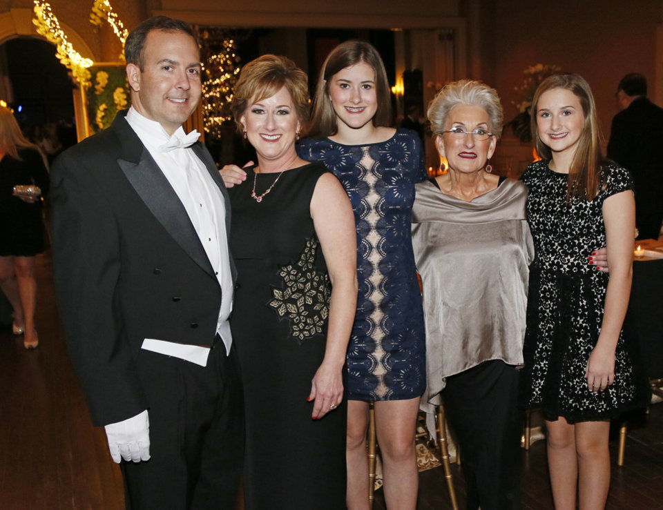 Photo -  Clint Pitzer, Jill Pitzer, Caroline Pitzer, Katie Harris and Sarah Jane Pitzer. PHOTO BY NATE BILLINGS, THE OKLAHOMAN