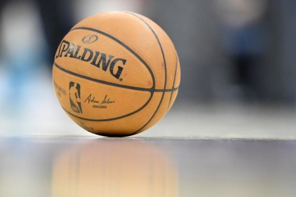 Photo -  Feb 24, 2020; Cleveland, Ohio, USA; A detail view of a game ball in the second quarter of a game between the Cleveland Cavaliers and the Miami Heat at Rocket Mortgage FieldHouse. Mandatory Credit: David Richard-USA TODAY Sports