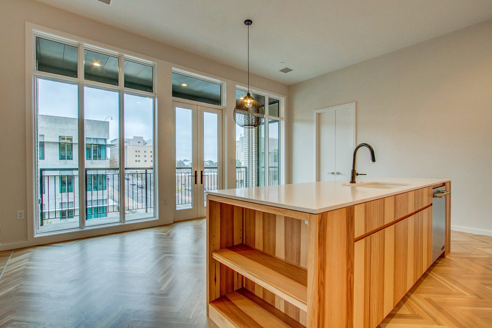 Photo -  View from the kitchen of a one-bedroom condo at 701 Hudson. [PHOTO PROVIDED BY BRENT SWIFT DESIGN BUILD]