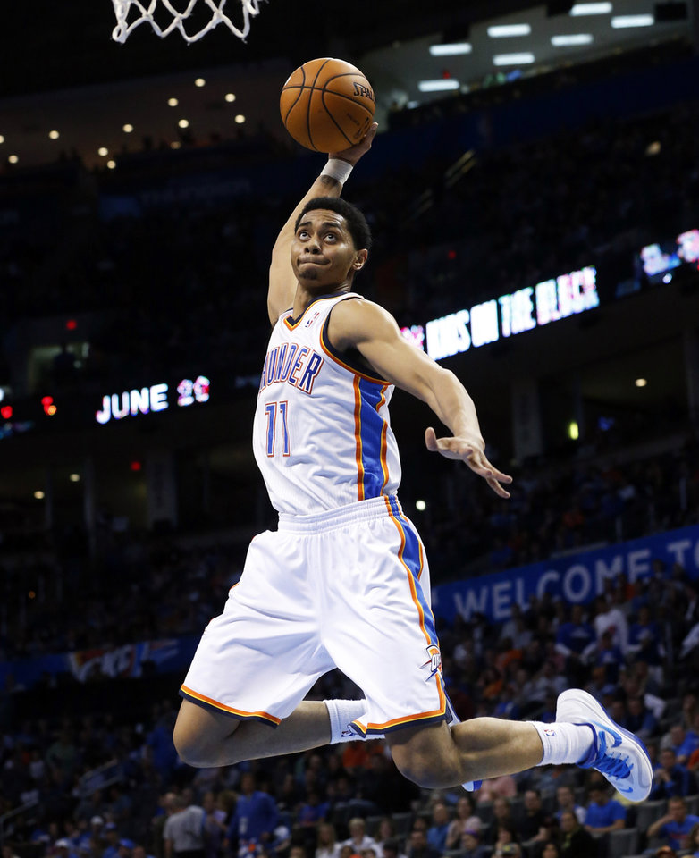 okc thunder jeremy lamb is about to be thrown into the