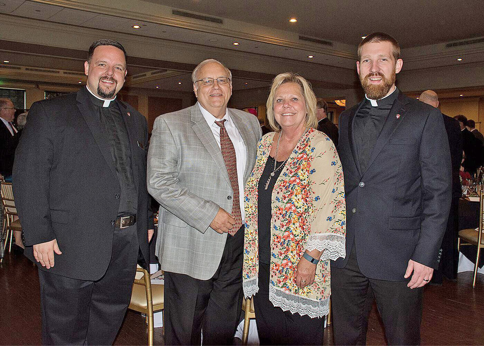 Photo - Rev. Joseph Irwin, Rick Jones, Cindy Jones, Rev. Kelly Edwards. PHOTO BY THERESA BRAGG, FOR THE OKLAHOMAN