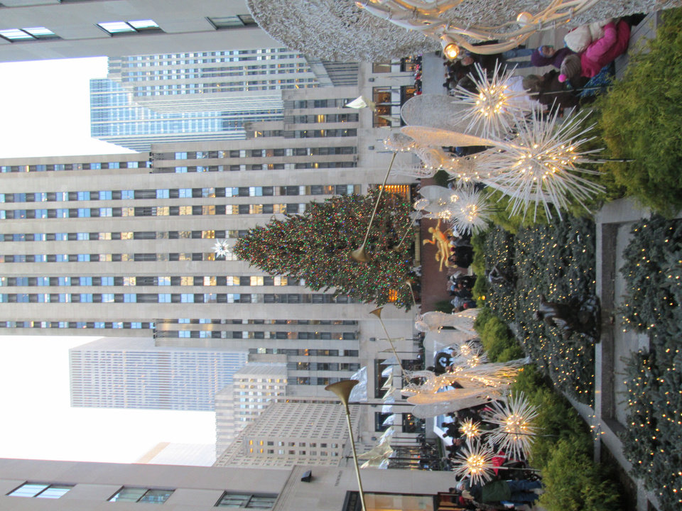 Photo - A view of the Rockefeller Christmas Tree. Photo by Heather Warlick, The Oklahoman.