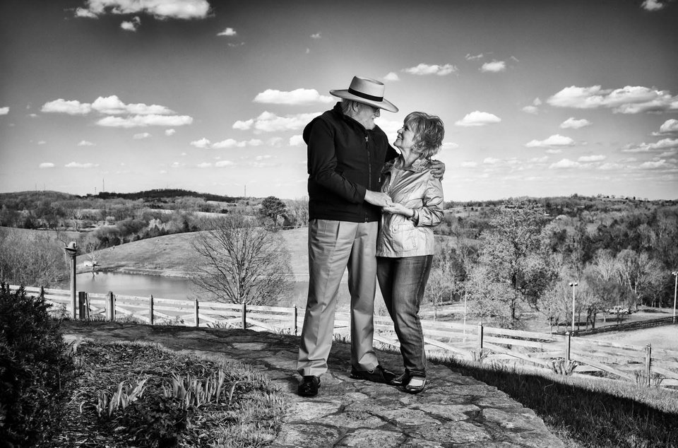 Photo - Country singer Charlie Daniels and wife Hazel are shown in April at their Twin Pines Ranch outside Nashville, Tenn. Phil Penman/Corbis Outline shot for Closer Weekly    PHIL PENMAN -  PHIL PENMAN
