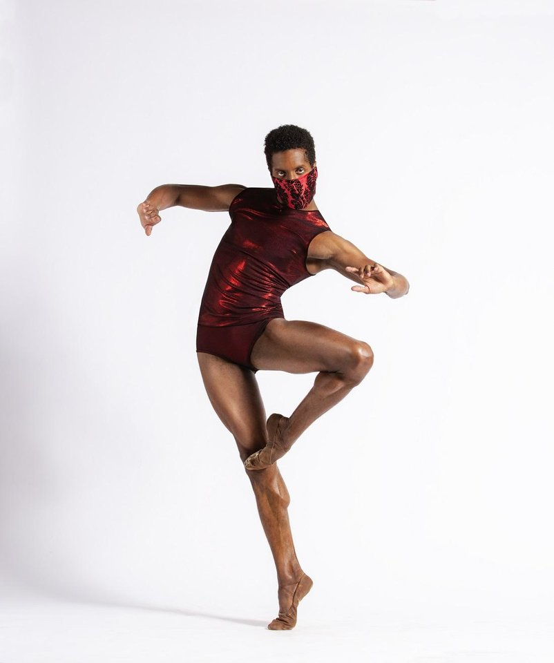 Photo - OKC Ballet Principal Dancer Jonathan Batista appears in a promotional image for the company's 2020-2021 season. [Shevaun Williams photo]