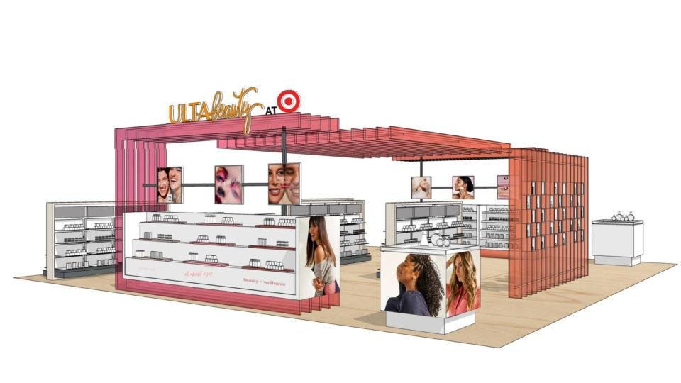Photo - This is illustrative of the collaboration between Target and Ulta Beauty to showcase the distinctive Ulta Beauty experience that will live within select Target locations starting in 2021. This is not reflective of a final design.