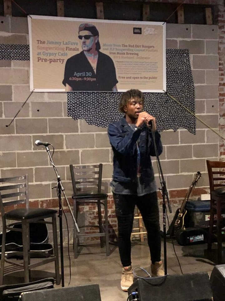 Photo - Rapper Dallas Parker, a student at ACM@UCO who performs under the name Faux Draco, won the second annual Jimmy LaFave Songwriting Contest with his song