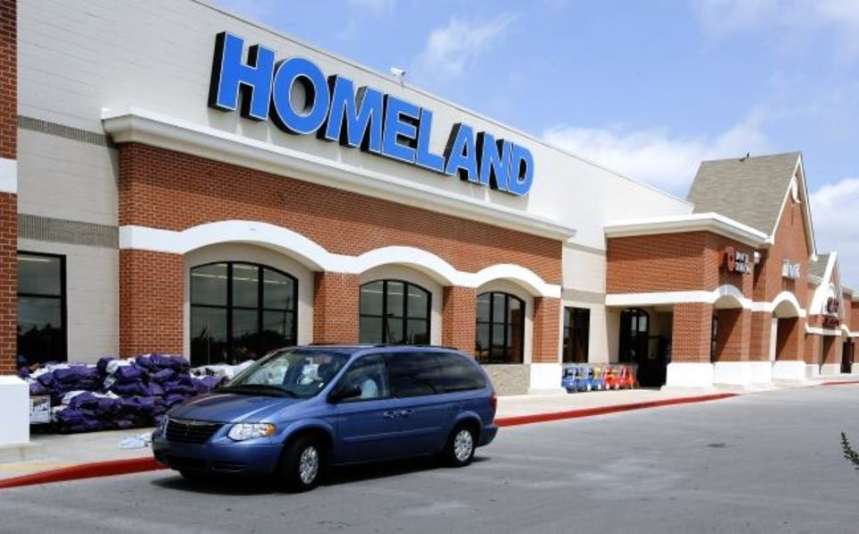 Photo -  The Homeland store is shown at May Avenue and Britton Road in Oklahoma City. [OKLAHOMAN ARCHIVES]