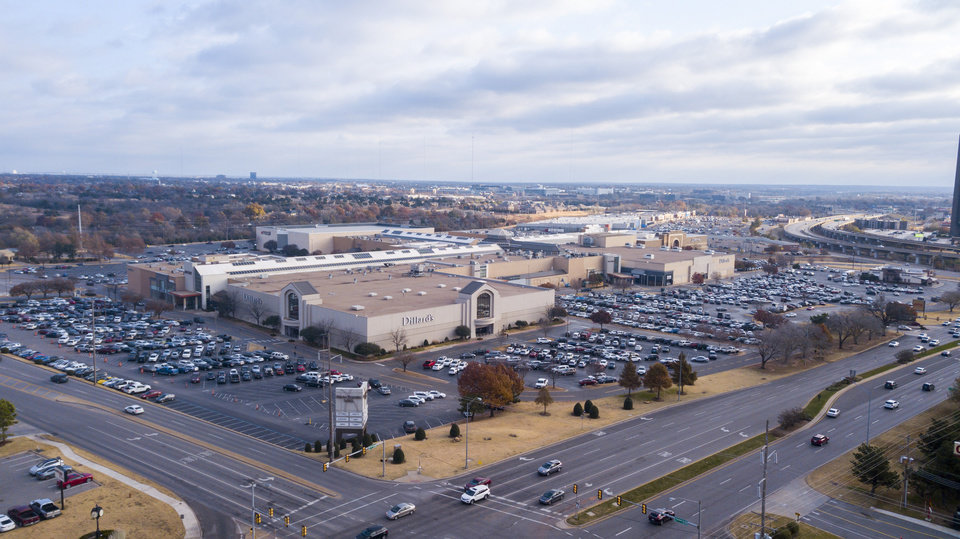 Photo -  Major stops along the future bus rapid transit line include Penn Square Mall, shown in this photo at Northwest Expressway and Pennsylvania Avenue. [Photo by Dave Morris, The Oklahoman]