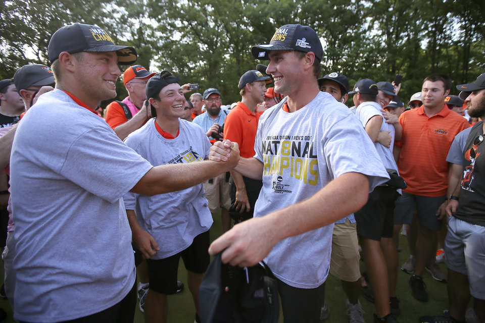 Oklahoma State routs Alabama to win 11th men's golf ...